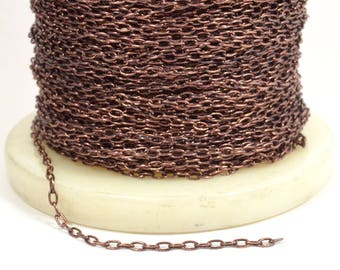 3.5mm Drawn Cable Chain - Antique Copper - GC134 - Choose Your Length
