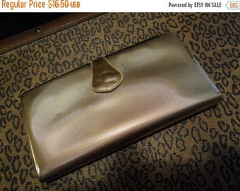 Now On Sale Vintage 1950's 1960's Gold Shiny Wallet Rockabilly Accessory Vanity Mid Century Modern Home Decor Display