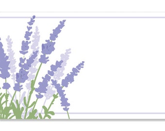 "50 ""Lavender Garden"" Floral Print Florist Blank Enclosure Cards Small Tags Crafts (Free Shipping!)"