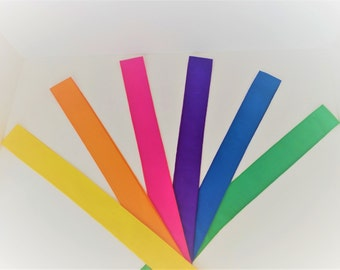Set of 5- Colored Headbands