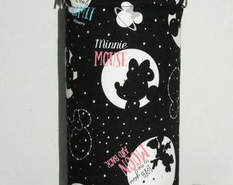 "Insulated Water Bottle Holder for 32oz Hydro Flask /Thermos with Interchangeble Handle/Strap Made with ""Mickey and Minnie Starlight Fantasy"""