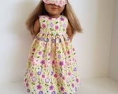 American Girl Doll Nightgown and Sleep Mask. Ready to Ship!