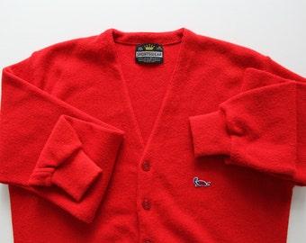 Vintage Crown Sportswear Button Up Cardigan 1960s
