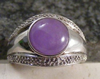 Vintage Amethyst Sterling Silver  Ring.....  Lot 4860