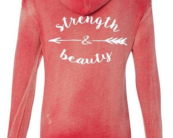 SoRock's Strength and Beauty Graphite Hooded Sweatshirt