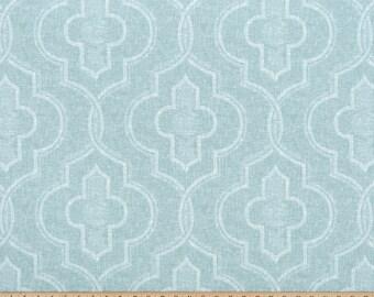 Blue White Quatrefoil Moroccan Curtains Newport  Rod Rocket  63 72 84 90 96 108 120 Long x 25 or 50 Wide