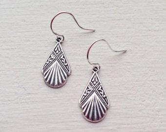 Small Silver Earrings/Boho Earrings/Silver Earrings/Art Deco Earrings/Dainty Earrings/Boho Chic/Small Earrings/Gift For Her/Petite Earrings