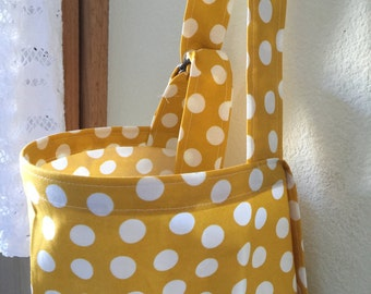 Breastfeeding nursing cover like hooter hider  cool cotton dots yellow