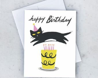 Cat Cake Greeting Card