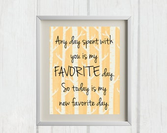 8x10 Any Day Spent With You | Winnie the Pooh Nursery Printable - INSTANT DOWNLOAD