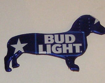 DACHSHUND Dog Magnet - BUD LIGHT Beer Can