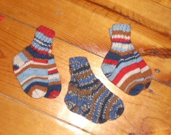 "Wool Baby Socks - 4 1/2"" Foot Your Choice"