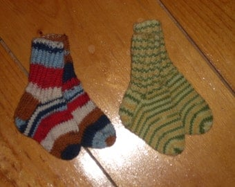 "Wool Baby Socks - 3 1/2"" Foot - Your Choice"