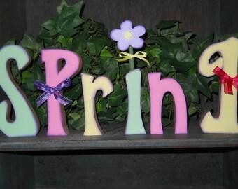 Spring  Spring wood letters  Spring letters  Spring decoration  Spring decor  OFG Team Wood letters
