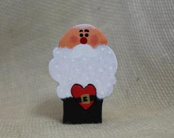 Christmas in July Holiday Christmas Decoration Santa Claus / St Nick / Bald Headed Santa / Kris Kringle Love Chunk