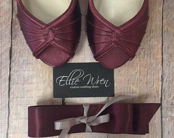 Wedding Dress Sash, Wine Wedding, Wine Sash, Wine Wedding Accessories, Bridal Belt, Simple Wedding, Wedding Accessories, Wine Satin
