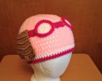Crochet Skye Paw Patrol Hat, Crochet Paw Patrol Hat, Girl Paw Patrol, Paw Patrol Birthday Party, Size 12 Month, 2T, 3T, 4T, 5T, Toddler Hat