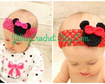 Crochet Minnie Mouse Head Applique Pattern, Mickey Mouse Head Applique Pattern, Silhouette Applique, Crochet Applique Pattern, PDF Pattern