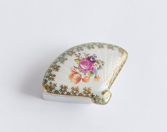 Fantastic Vintage Trinket Box Small Porcelain Gift Box Jewellery Box Medicine Tablet Box Beautiful Gift