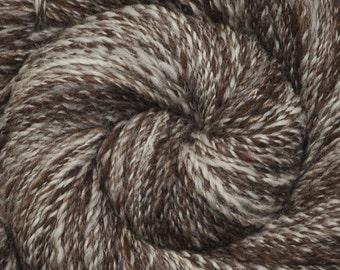 Handspun yarn - Natural Color Corriedale wool, DK weight - 350 yards - Humbug