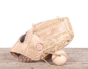 Old Leather Baseball Glove / Vintage Baseball Glove / Spalding Bob Gibson Baseball Glove / Antique Baseball Glove / Old Glove Antique Mitt