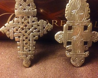 His and Hers Coptic Cross Pendants