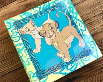 Vintage 90s The Lion King 4 x 6 photo album