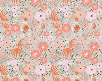 Ava Rose by Deena Rutter for Riley Blake Designs, Floral Gray, SKU C5872, 1 yd