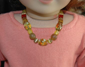 Doll, necklace, american, made, girl, doll jewelry, 18 inch doll, accessories, beaded, 22