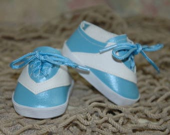 Tennis, shoes, cheer, vinyl, made for 18 inch doll, American, made, girl, doll shoes, doll clothes