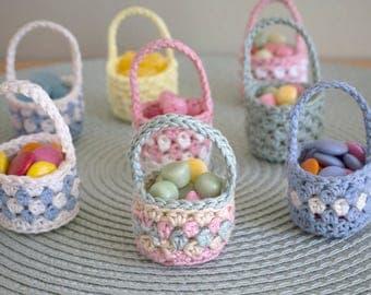 Mini Easter Baskets in crochet - PDF pattern