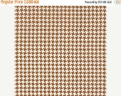 SHOP CLOSING SALE Fat Quarter Fabric for quilt or craft Michael Miller Tiny Houndstooth in Cinnamon Fat Quarter