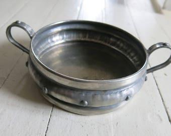 Old pewter bowl
