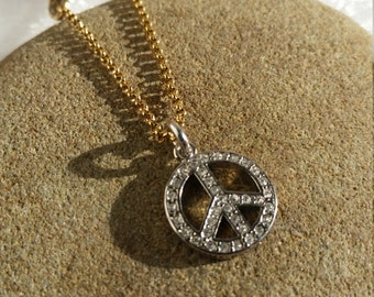 Juicy Couture Peace Sign Wish Necklace