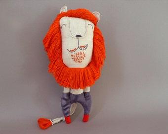 Mr. Lion Sailor 252 - Lion Plush Soft Toy stuffed Doll Plushie Softie