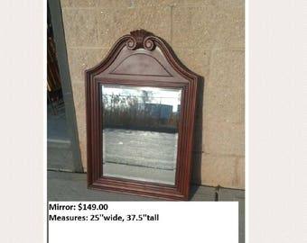 Vintage french shield mirror  PICK UP ONLY painting included vintage painted bedroom dresser mirror, traditional, rustic, distressed