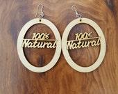 100% Natrual Wooden Earrings