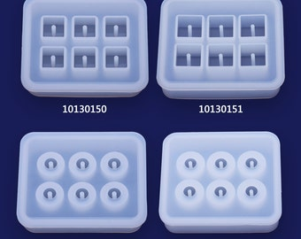 1 Crystal silicone mold Cabochons for earrings pendant Mould With Hole  10130