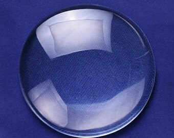 5 PCS 80MM Round Flat Back clear Crystal glass Cabochon 16MM Thick 10149250