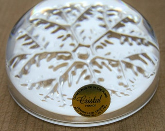 Lead Crystal Snow Flake Paper Weight