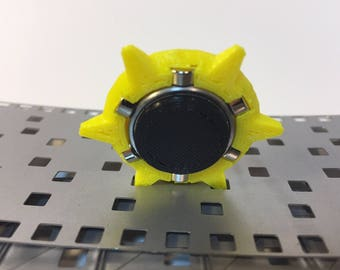 Fidget Spinner,  Origami YELLOW Omega Star v2 paper ejector for cutting die MP006 and MP007