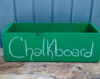 Chalkboard Crate - Green Storage Crate