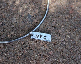 Race City - Mantra Bangle Bracelets - Interchangeable Charm only - Gift for runners - Race City Charm Bracelet - Marathoners and Runner