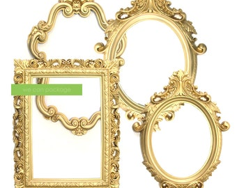 SALE: GOLD Picture Frame - Victorian Wedding Decoration - GOLD Photo Props
