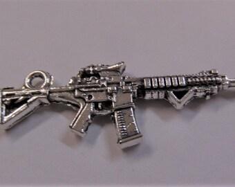 45mm 5CT. Machine Gun Charms, 5CT. (Y14)