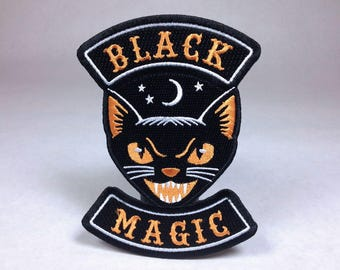 Black Magic scary cat Halloween biker patch