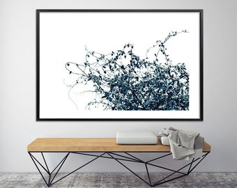 Large Nature Print, Giclee Print up to 40X60, huge wall decor, tree print, nature prints, minimalist poster, black and white