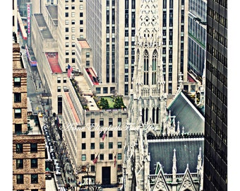 New York Photograpy, NYC Wall Art, Manhatten, New York Rooftops, Gotham City, Skyline, Urban, Radio City, 5th Avenue, Cab, Architecture,Dorm