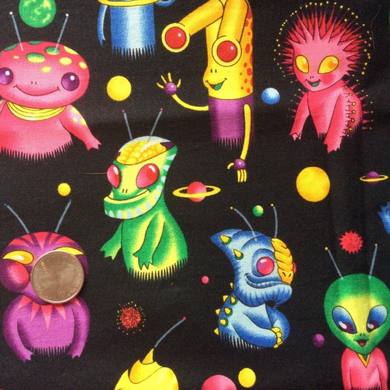 Alexander henry galaxy guys alien fabric for Alien fabric