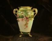 Magnificent Gilt Nippon Vase, Lychee Fruit Design 1899